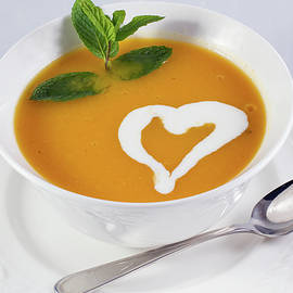 The pumpkin soup with heart by William Freebilly photography