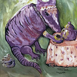 The Rare, And Oh So Festive, Purple Armadillo by Ruth Webb