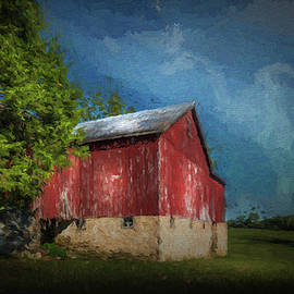 The Red Barn by Marvin Spates