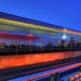 The Red Line Over The Longfellow Bridge by Joann Vitali