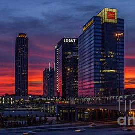 Reid Callaway - The Red Sunset 2 Midtown Atlanta Cityscape Art