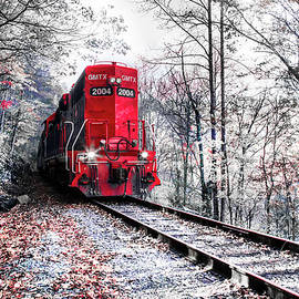 Debra and Dave Vanderlaan - The Red Train in the Snow