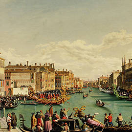 Hubert Sattler - The Redentore feast in Venice