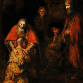 The Return of the Prodigal Son After Rembrandt by Michael Durst