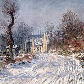 The Road to Giverny in Winter