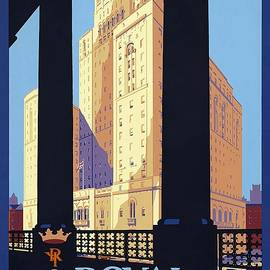 The Royal York, Toronto, Canada - Candian Pacific Hotel - Retro travel Poster - Vintage Poster - Studio Grafiikka