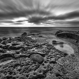 The Rugged California Coast - Black and White by Photography  By Sai