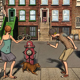 The Scolding or  aka When a Dog's Gotta Go by Ken Morris