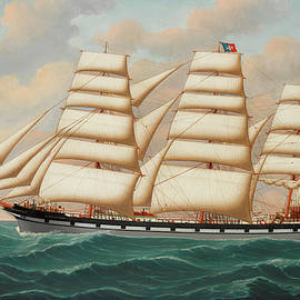 The ship Lindisfarne outward bound - Henry Loos
