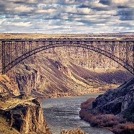The Snake River At Twin Falls Idaho by Michael Rogers