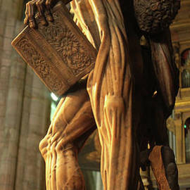 The Statue Of St Bartholomew In Milan Cathedral by Gregory Dyer