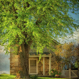 The Stone Cottage On A Spring Evening by Lois Bryan