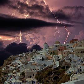 Yuri Hope - The storm in Santorini