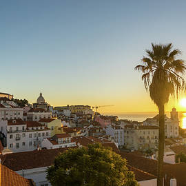 The Sunny Soul of Lisbon - Miradouro das Portas do Sol Sunrise by Georgia Mizuleva