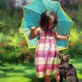 The Teal Umbrella by Steve Henderson