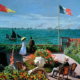 The Terrace at Sainte Adresse by Claude Monet