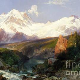 Thomas Moran - The Teton Range, 1897