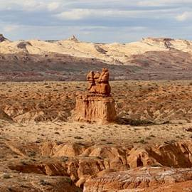 The Three Sisters At Goblin Valley State Park  by Christy Pooschke