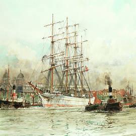 Charles Edward Dixon - The Trafalgar off Greenwic