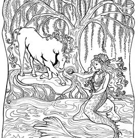 The Unicorn and the Mermaid by Katherine Nutt