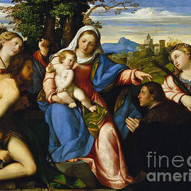 The Virgin and Child with Saints and a Donor - Jacopo Palma