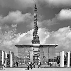 The Wall for Peace and the Eiffel Tower by Digital Photographic Arts
