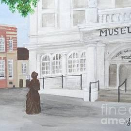 The Willis Museum Basingstoke With Jane Austen Statue by Karen Jane Jones