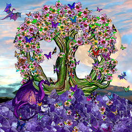 Michele Avanti - The World Tree Spring Equinox Dragons