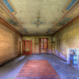 THE YELLOW ROOM of THE VILLA WITH THE COLORED ROOMS by Enrico Pelos