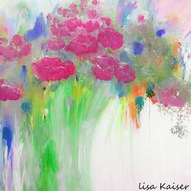 Lisa Kaiser - They Are Almost Here Summer Wild Flower Garden Painting