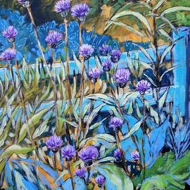 Cathy MONNIER - Thistles and fence