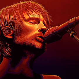 Thom Yorke of Radiohead by Paul Meijering