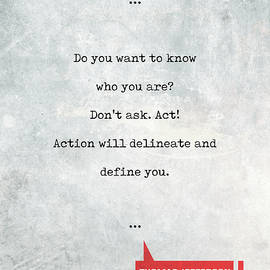 Thomas Jefferson Quotes 1 - Literary Quotes - Book Lover Gifts - Typewriter Quotes - Studio Grafiikka