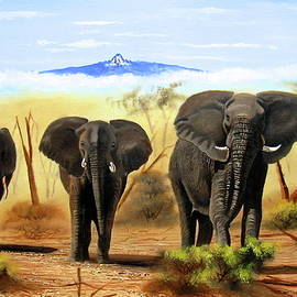 Three Elephants by Wycliffe Ndwiga