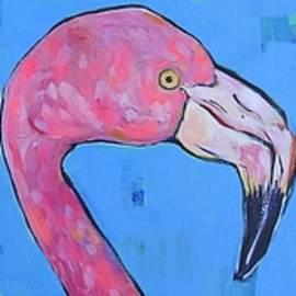 Three Flamingos by Arrin Freeman