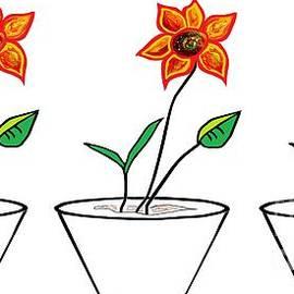 Eloise Schneider - Three Flowers in a Row