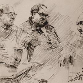 Ylli Haruni - Three Men Chatting