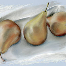 MM Anderson - Three Pears on a Cloth