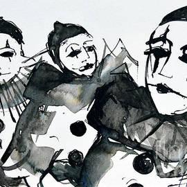 Mona Edulesco - THREE PIERROTS - Venice Carnival