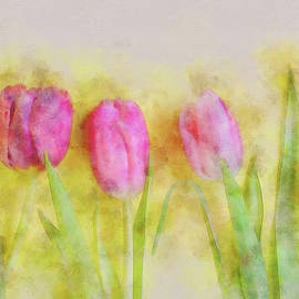 Anna Maloverjan - Three pink tulips