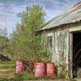 William Sturgell - Three Red Barrels and a Shed