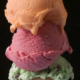 Three Scoops Of Ice Cream  by Garry Gay