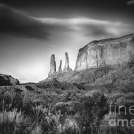 Three Sisters Formation at Monument Valley by Priscilla Burgers