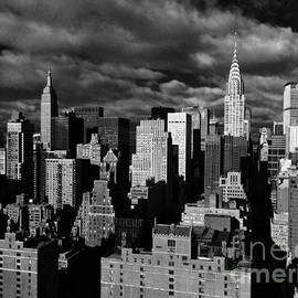 Three Titans - Chrysler, Empire State, and MetLife Buildings by Miriam Danar