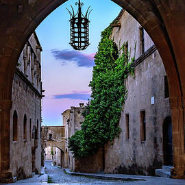 Through The Archway Into Rhodes Town, Rhodes, Greece by Global Light Photography - Nicole Leffer