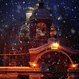 Jenny Rainbow - Tikhvin Church Gates. Snowy Days in Moscow