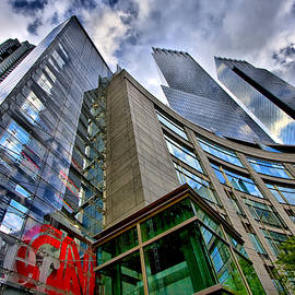 Time Warner Buildings At Columbus Circle by Val Black Russian Tourchin