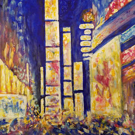 Times Square night by Olga Malamud-Pavlovich
