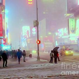 Ed Weidman - Times Square Snowstorm