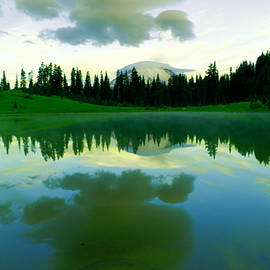 Tipsoo Lake in the morning  by Jeff Swan
